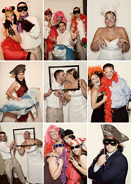 funny wedding photobooth