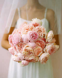 pink peach bouquet
