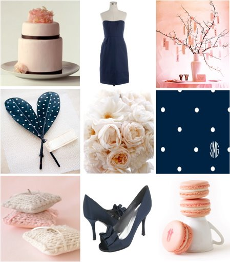 navy and pink weddings