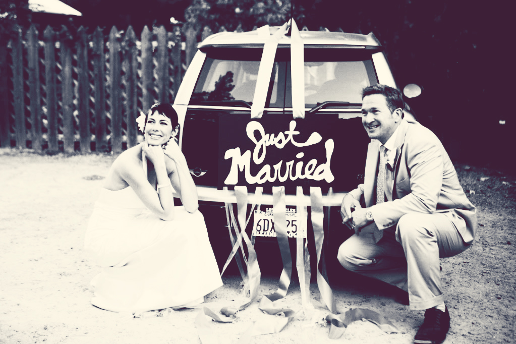just married pictures