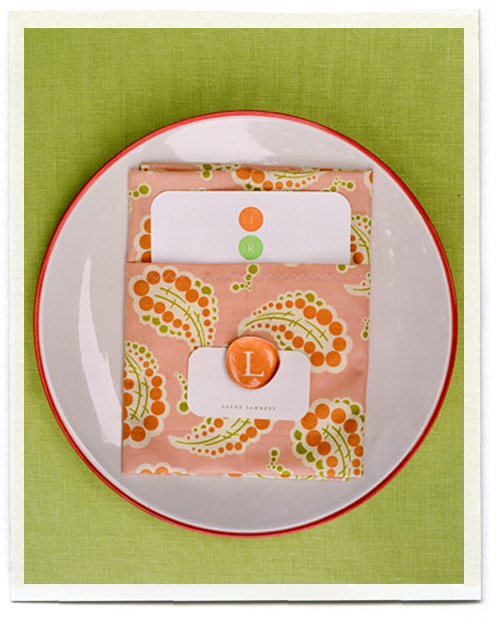 orange pink wedding details