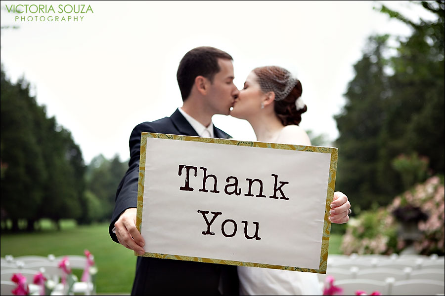 wedding thank you sign