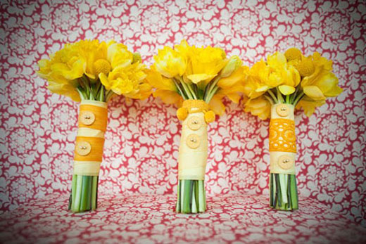 bright yellow bouquets