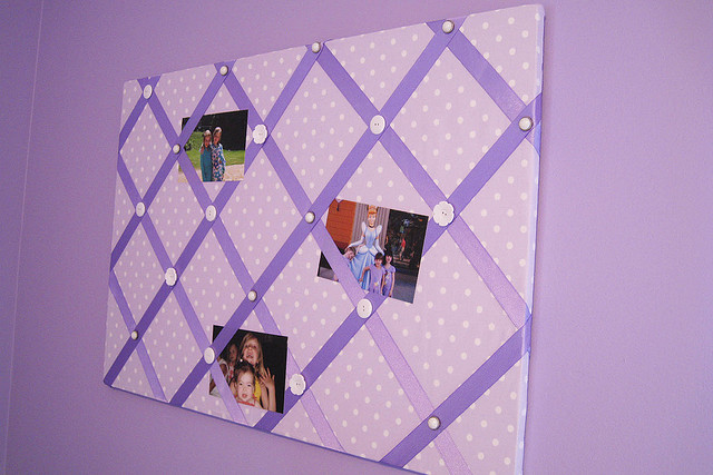 purple wedding photo board
