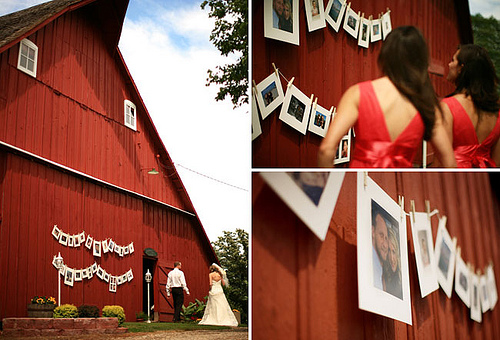 wedding photo displays