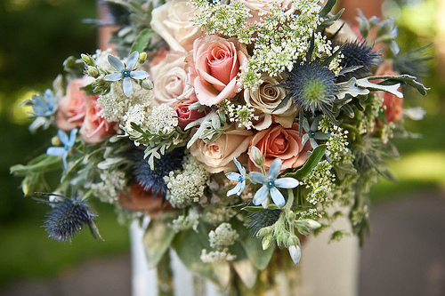 thistle wedding bouquet
