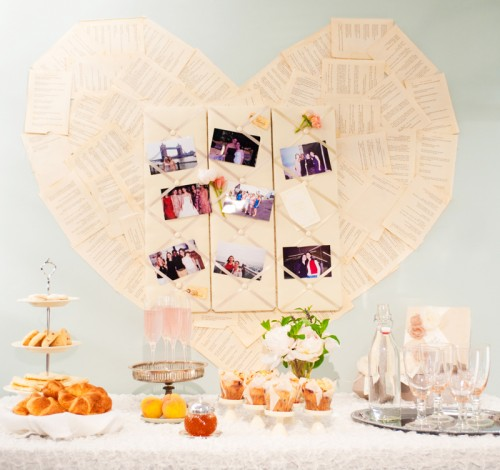 heart photo wedding decor