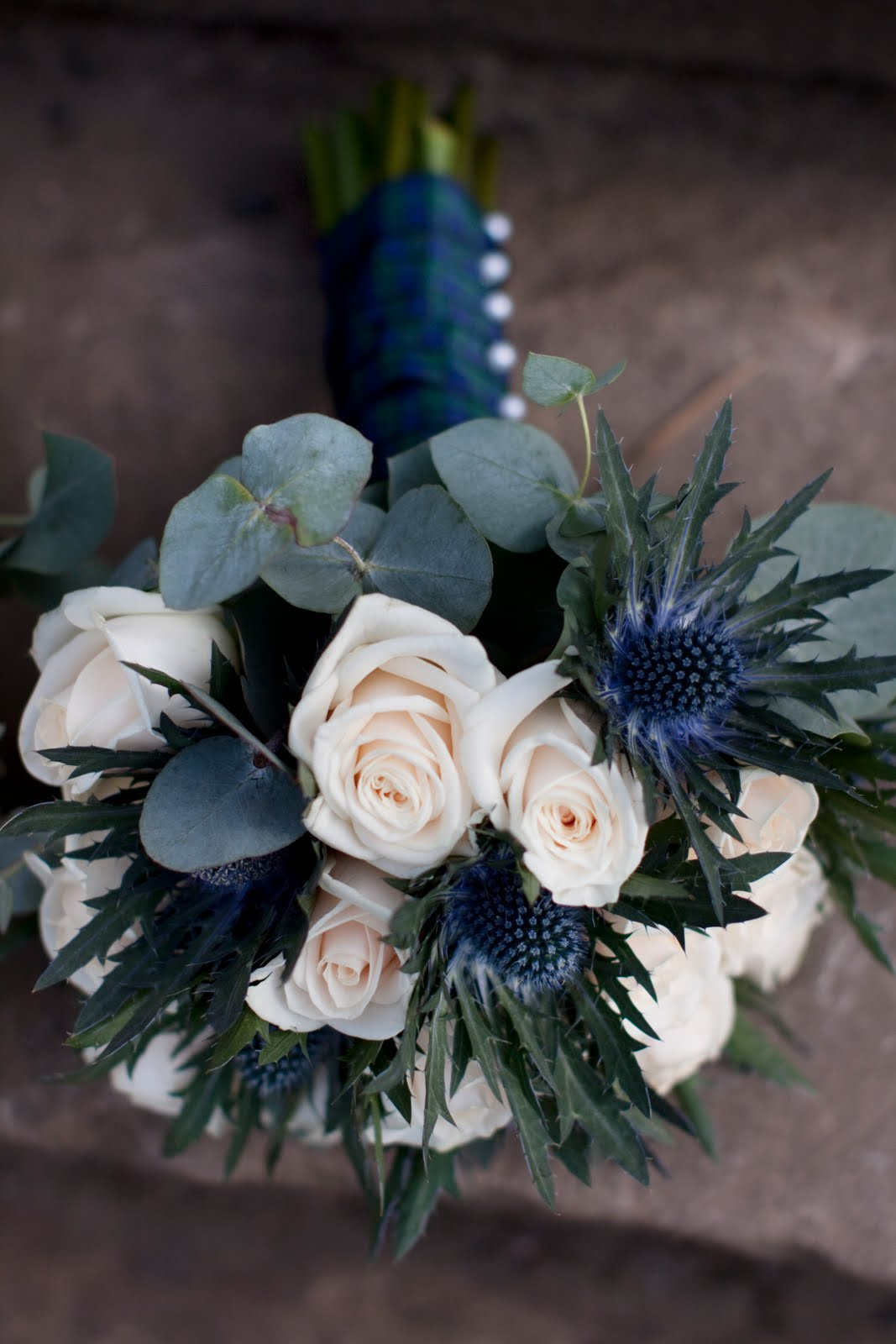 navy wedding bouquet