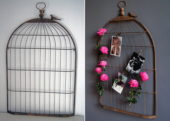 birdcage wedding display