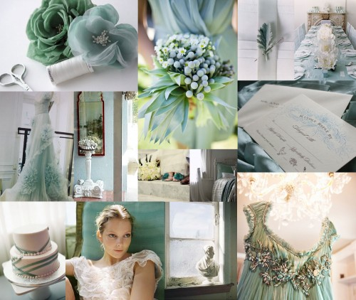 Wedding Ideas And Inspirations: Wedding Colors: Aquamarire Etsy Details
