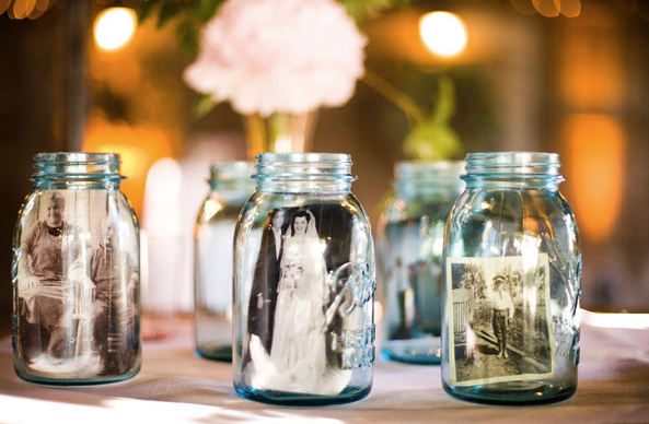 mason jar wedding pictures