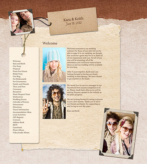 wedding websites The new Favori theme is a wonderful choice for couples who