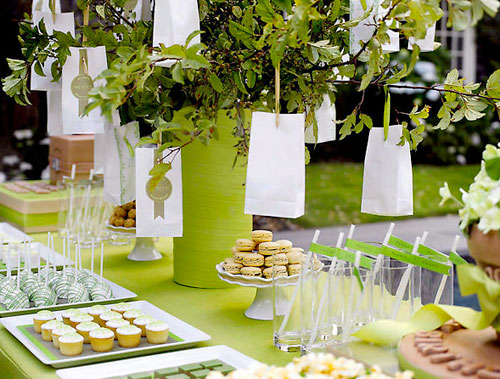 green dessert buffet