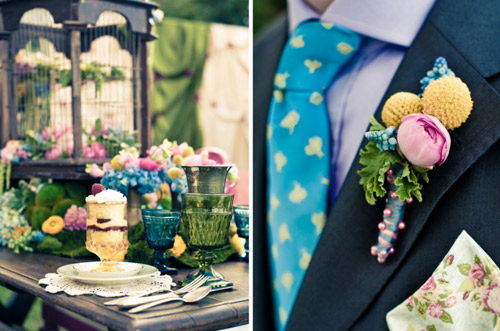 pink yellow turquoise wedding Photo Credit Carmen Salazar Photography