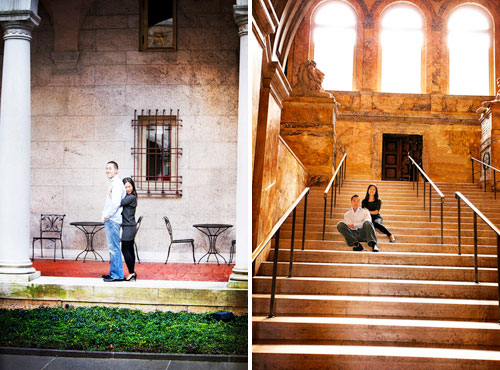 library engagement photos