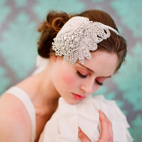 diamond bridal headpiece