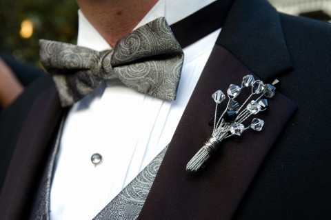 crystal boutonniere