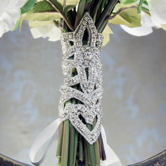bridal bouquet bling