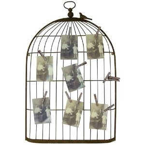 birdcage wedding photo display