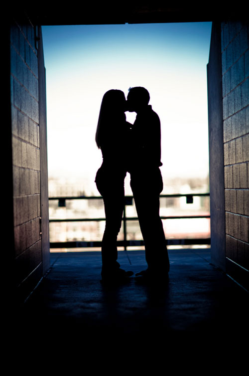 silhouette engagement pictures