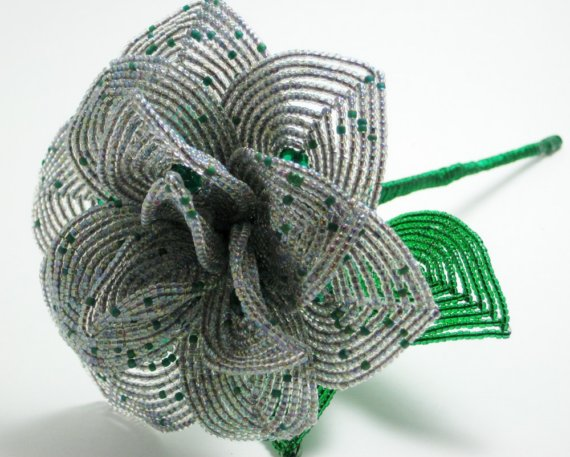 green wedding accessory