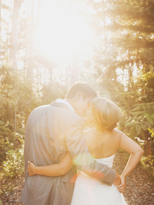 lens flare wedding pictures