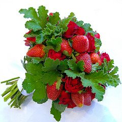 strawberry wedding bouquet
