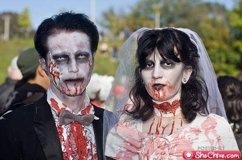 zombie theme wedding