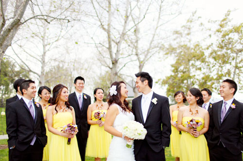 yellow wedding colors