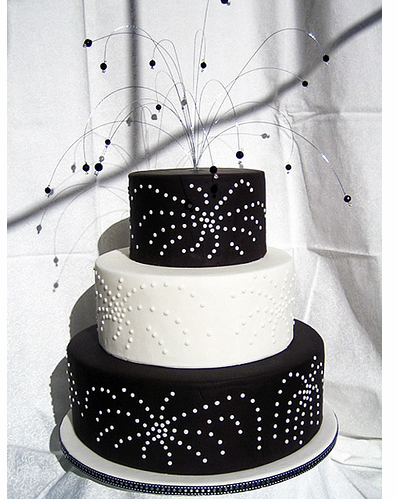 firework wedding cake
