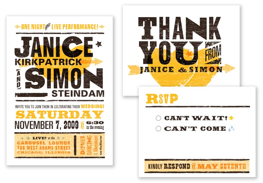 music themed wedding stationery Photo Credit A Printable Press