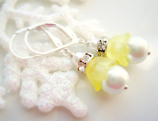 yellow wedding jewelry