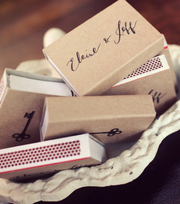 match wedding favors
