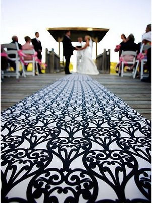 fun wedding aisle runner