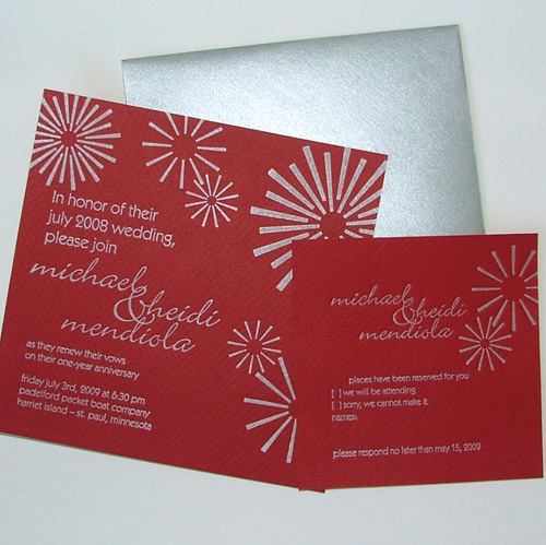 firework wedding invitations