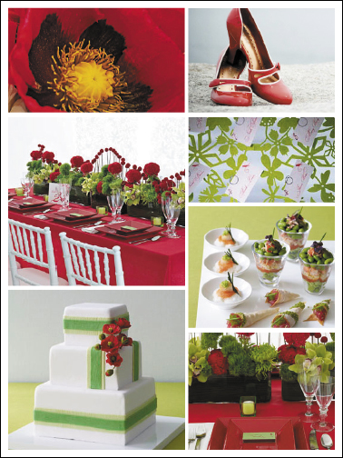 red green wedding