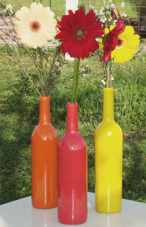 DIY wedding vases