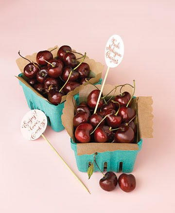 fresh cherry wedding favors