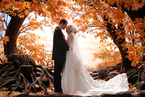 fall wedding pictures