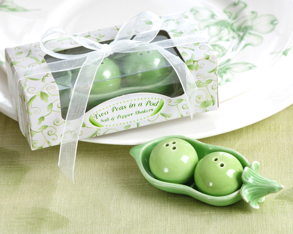 pea pod wedding favors