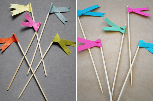 DIY paper flag tutorial