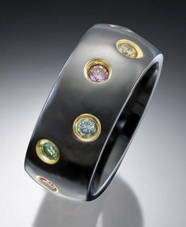 colored wedding bands