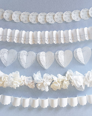 lace wedding garland