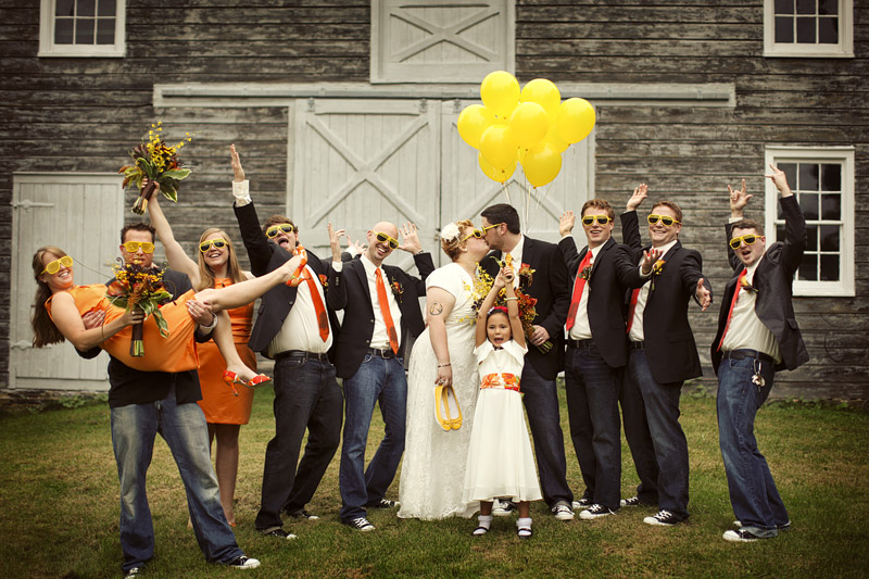 fun wedding party