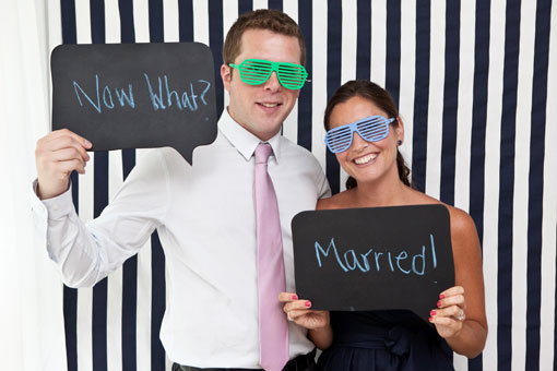 chalkboard photobooth props