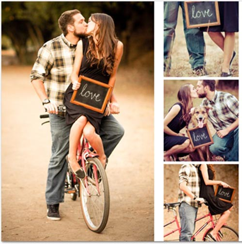 chalkboard engagement pictures