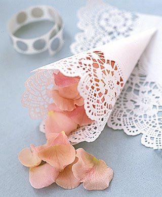 doily wedding cones