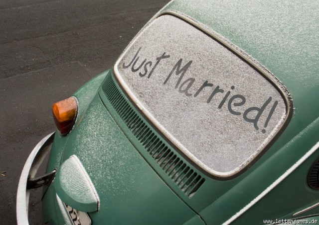 just married photos