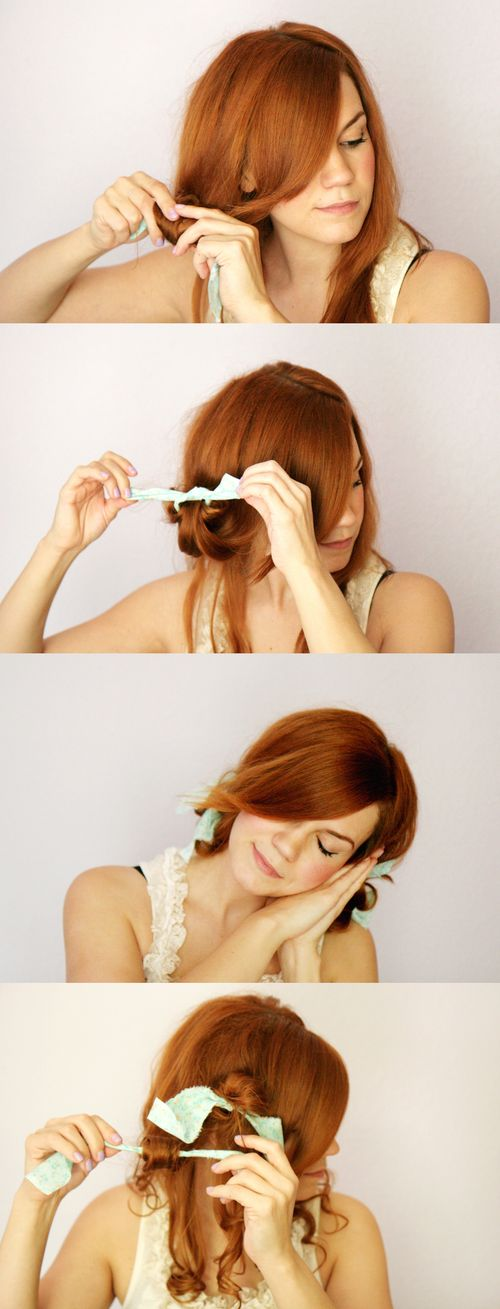 diy curl hair tutorial