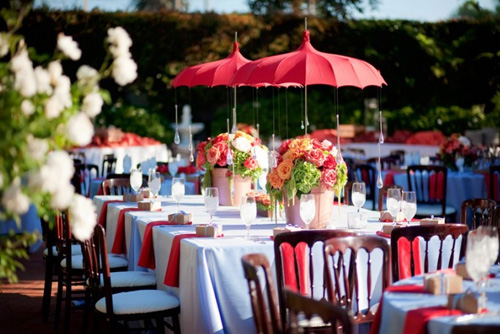 wedding umbrella decor